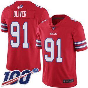 Buffalo Bills Ed Oliver 100th Season Jersey 2